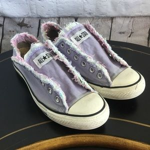 Converse Frayed Lavender Sneaker Womens US 10